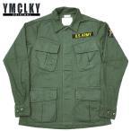 YMCLKYオリジナル 米軍タイプ ベトナム ジャングル ファティーグ ジャケット グリーンベレータイプ
