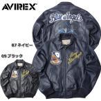 AVIREX #6161059 ブルー エンジェルズ チーム レザージャケット 09ブラック 87ネイビー 日本正規販売店 AVIREX