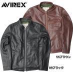 AVIREX #6161068 オイリーカウ シングルライダース レザージャケット 【日本正規販売店】 AVIREX/アビレックス/avirex