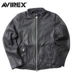AVIREX #6161065 シープスキン シングル ライダース レザージャケット 【日本正規販売店】 AVIREX/アビレックス/avirex