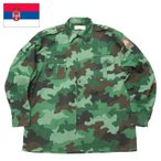 sale セルビア軍 フィールドシャツ カモフラージュ USED