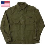米軍 ウールフィールドシャツ 旧タイプ ワッペン付き USED JS010UN メンズ 実物 ミリシャツ 厚手 ウール ミリタリー ジャケットシャツ アメリカ軍