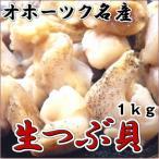 つぶ貝むき身 北海道オホーツク産 1kg 生つぶ貝 お刺身用 ツブガイ ツブ貝