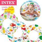 (パケット便送料無料)INTEX(インテックス) ライブリープリントスイムリング 61cm 59241 (プール/水遊び/子供用/浮き輪)