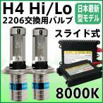 HIDキット HIDライト H4リレーレス 極薄安定型HIDヘッドライト HIDフォグランプ 2206 35W バラスト H4Hi/Loスライド式 H4キット HIDバルブ 保証付