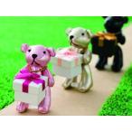ショッピングくま ストラップ リング ネックレス ピアスに アクセサリー ベアー ジュエリーボックス ジュエリーケース BOX ピンク 送料無料