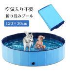 プール ペット ビニールプール 子供プール 空気入れ不要 120cm*30cm 折り畳み ペット用バスグッズ 子供用 プール 持ち運び便利 水遊び 猛暑対策 犬猫お風呂用 屋