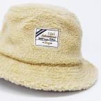 ボア 帽子 ハット メンズ 冬 ボア素材を使用したバケットハット 内側でサイズ調整ができる