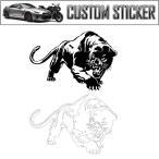 カスタム ステッカー 豹 ヒョウ ジャガー タイガー 獣 車 バイク ドレスアップ シール エンブレム CUSTOM STICKER