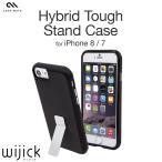 iPhone7 ケース 耐衝撃 ハード TPU ブランド アイフォン7 Case Mate Hybrid Tough Stand Case カバー 衝撃吸収 ブラック メタル スタンド
