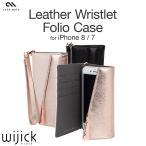 iPhone7 ケース 手帳型 本革 レザー 革 カード収納 ブランド Case Mate Leather Wristlet Folio Case カバー ジャケット ストラップ