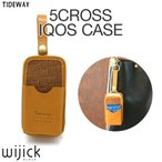 iQOS ケース カバー 本革 レザー 革 ブランド TIDEWAY 5CROSS IQOS CASE ホルダー ポーチ 収納 電子タバコ