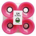 スケボー スケートボード サーフスケート クルーザー ソフトウィール SMBLANKS エスエム 70mm78a 高反発ソフトウィール BLANKER ピンク