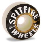 スケボー スケートボード ウィール SPITFIRE スピットファイア 52mm 99DU INFLAMMABLE 白黒金