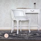 アンティーク チェア ロココ 姫系 ダイニング 猫脚 ロマンチック ホワイト 白 PU レザー 合皮 6090-n-18pu65