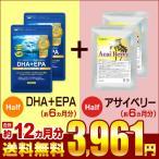 DHA EPA オメガ3 αリノレン酸 約6ヵ月分 アサイベリー 約6ヵ月分 合計約12ヵ月分