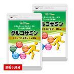 2型コラーゲン配合グルコサミン コンドロイチン MSM 約6ヵ月分 お徳用半年分サプリSALE サプリ サプリメント 送料無料