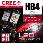 LEDヘッドライト LEDフォグランプ HB4 最新CREEチップ搭載 3000ルーメン 6000K