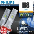 LEDヘッドライト H8 合計8000ルーメン PHILIPS製チップ搭載 LEDフォグランプ 6000K フィリップス