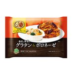 ニップン よくばりプレート 海老と野菜のグラタン&ボロネーゼ 350g×12個 【冷凍食品】