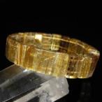 ゴールドタイチンルチル バングル  パワーストーン 天然石 l119-155