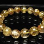 ゴールドタイチンルチル ブレスレット 12mm  パワーストーン 天然石 t36-5156