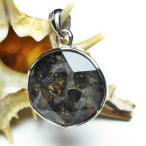 パラサイト隕石 かんらん石  大衛星 ペンダント  t453-2309