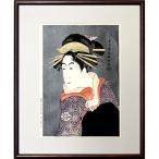 東洲斎写楽 浮世絵 松本米三郎のけはい坂の少将実はしのぶ 復刻木版画 役者絵 錦絵 額付き A304