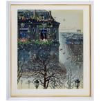 ヒロヤマガタ 絵画  「フォギーディウエディング」 シルクスクリーン 額付き  直筆サイン入 送料無料 B1391 ウェディング 現品限り