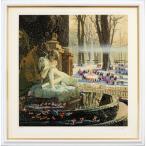 ヒロヤマガタ 絵画  「子供たちの雪祭り」 シルクスクリーン 額付き  直筆サインあり 【版画】 送料無料 現品限り B1291