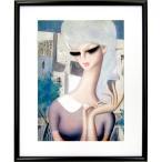 東郷青児 作品 「町娘」 印刷複製画 額付き 洋画 美人画 二科会 インテリア アートフレーム Togo B3464