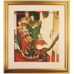 ノーマン ロックウェル Merry Christmas Grand'ma メリークリスマス、グランマ ジクレー版画 額付き おばあちゃん ロックウエル ローウエル B2030