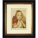 藤田嗣治 作品「フォークを持つ少女」リトグラフ エスタンプ 額付き 絵画 複製画 版画 真作保証 B4836