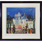 ヒロヤマガタ 絵画「スターライトコンサート」シルクスクリーン 額付き 版画 風景画 セリグラフ ヒロ・ヤマガタ B5648