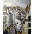 モーリス・ユトリロ 「ルピック通り」 P10号相当 額付き プリハード 複製画 パリの風景 エコール・ド・パリ 個人所蔵 P5318