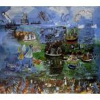 ラウル・デュフィ 「ル・アーヴルの水の祭り」 P10号相当 額付き  プリハード 複製画 フォービズム パリ市近代美術館/所蔵 P5321