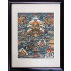 【チベット仏教画】 仏画 「釈迦伝」 真筆 額付き 【現品限り】【送料無料】【真作保証】 #525