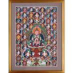 【チベット仏教画】 仏画 「阿弥陀如来」 真筆 額付き 【現品限り】【送料無料】【真作保証】 #528