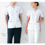 医療白衣 オンワード Raffiria ラフィーリア HS-8027 男女兼用前開き スクラブ S〜BL ナースウェア