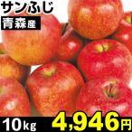 りんご 青森産 サンふじ 林檎 10kg 1箱 食品
