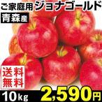 りんご 青森産 ご家庭用 ジョナゴールド 10kg 1箱 送料無料【数量限定】