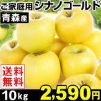 りんご 青森産 ご家庭用 シナノゴールド 10kg 1箱 送料無料【数量限定】