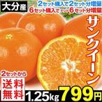 みかん 大分津久見産 サンクイーン 1.25kg 【2セット目から送料無料+増量あり】
