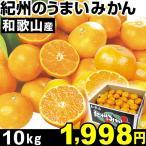 みかん 和歌山産 紀州のうまいみかん 10kg 1箱