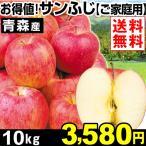 りんご【2018年発送りんご】青森産 お得値! サンふじ ご家庭用 10kg 1箱 送料無料  ふじりんご 赤りんご