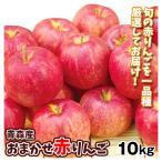 りんご 青森産 お買得 おまかせ赤りんご 10kg ご家庭用 送料無料 食品