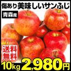 りんご 青森産 キズあり美味しい サンふじ 10kg 送料無料 ご家庭用 訳あり 林檎 ふじりんご さんふじ