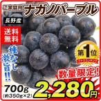 ぶどう ナガノパープル(約350g×2パック)数量限定 長野県産 ご家庭用 葡萄 ブドウ フルーツ くだもの 食品 国華園