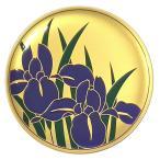 《琳派の絵画をモチーフに。現代に生きる和柄の香皿》七丸製作所 香皿(琳派・燕子花)白檀線香付24金パールメッキ仕上
