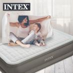インテックス エアーベッド プレムエアー シングル|エアベッド ベッド 厚さ46cm 電動 ポンプ内蔵 簡易ベッド シングルマット ベッドマットレス ベッドマット